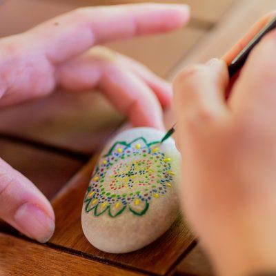 Girl,Colouring,Pebbles